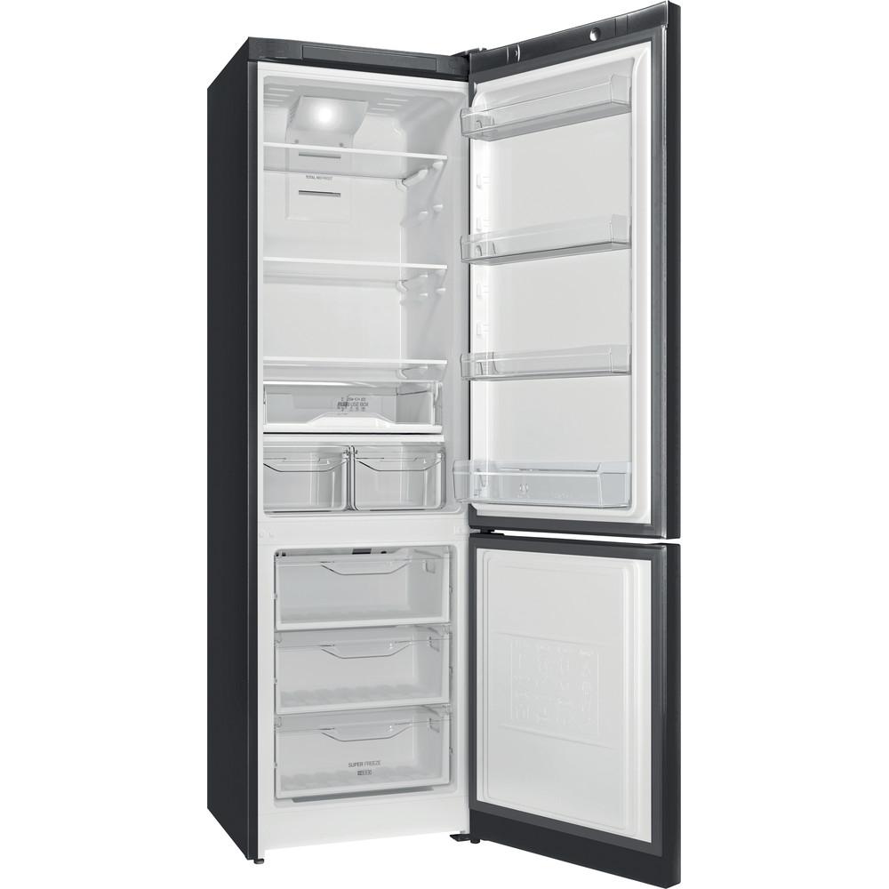 Indesit Холодильник с морозильной камерой Отдельностоящий ITF 120 B Черный 2 doors Perspective open
