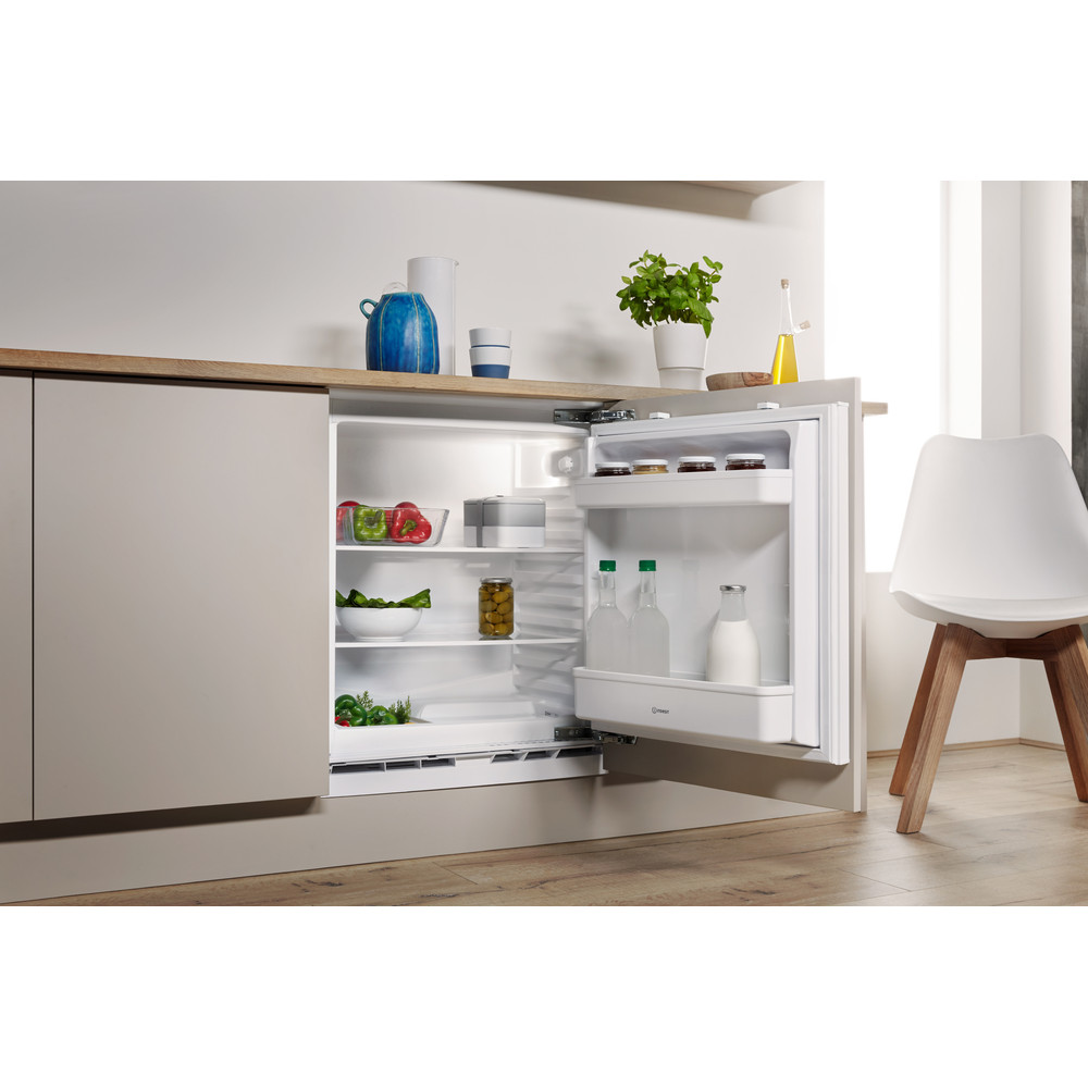 Indesit Refrigerator Built-in IL A1.UK Steel Lifestyle perspective open
