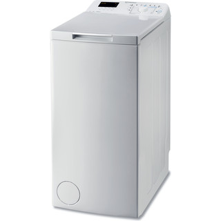 Indesit Pračka Volně stojící BTW D61053 (EU) Bílá Top loader A+++ Perspective