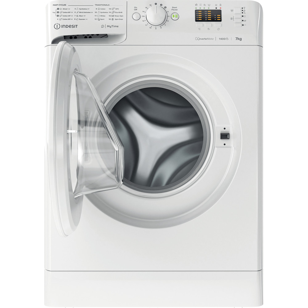 Indesit Lave-linge Pose-libre MTWA 71483 W EE Blanc Frontal D Frontal open