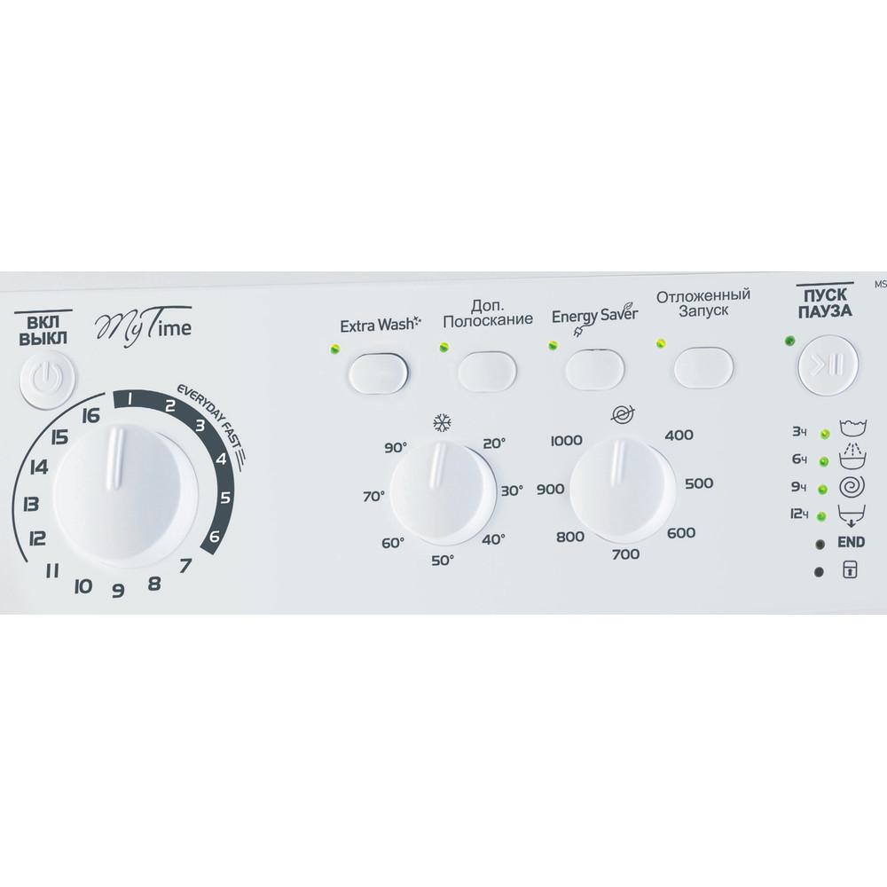 Indesit Стиральная машина Отдельностоящий MSC 615 Белый Фронтальная загрузка A Control_Panel