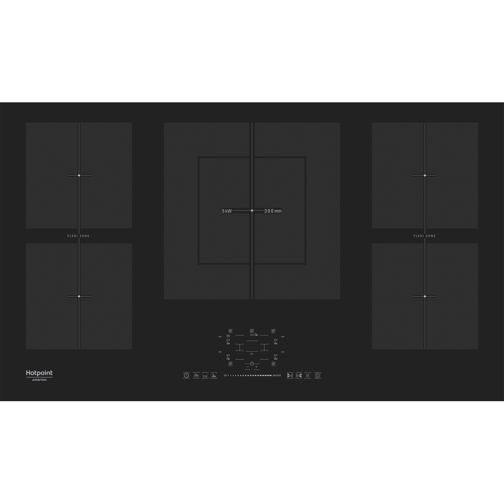 Hotpoint_Ariston Piano cottura KIF 952 BXLD B Nero Induction vitroceramic Frontal