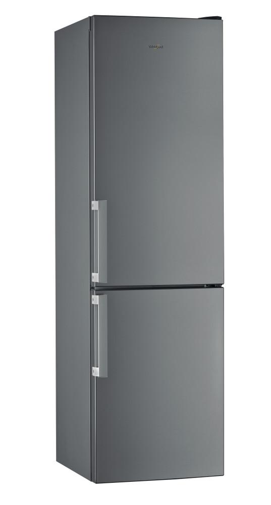 Whirlpool Racitor-congelator combinat De sine statator W5 921C OX H Optic Inox 2 doors Perspective