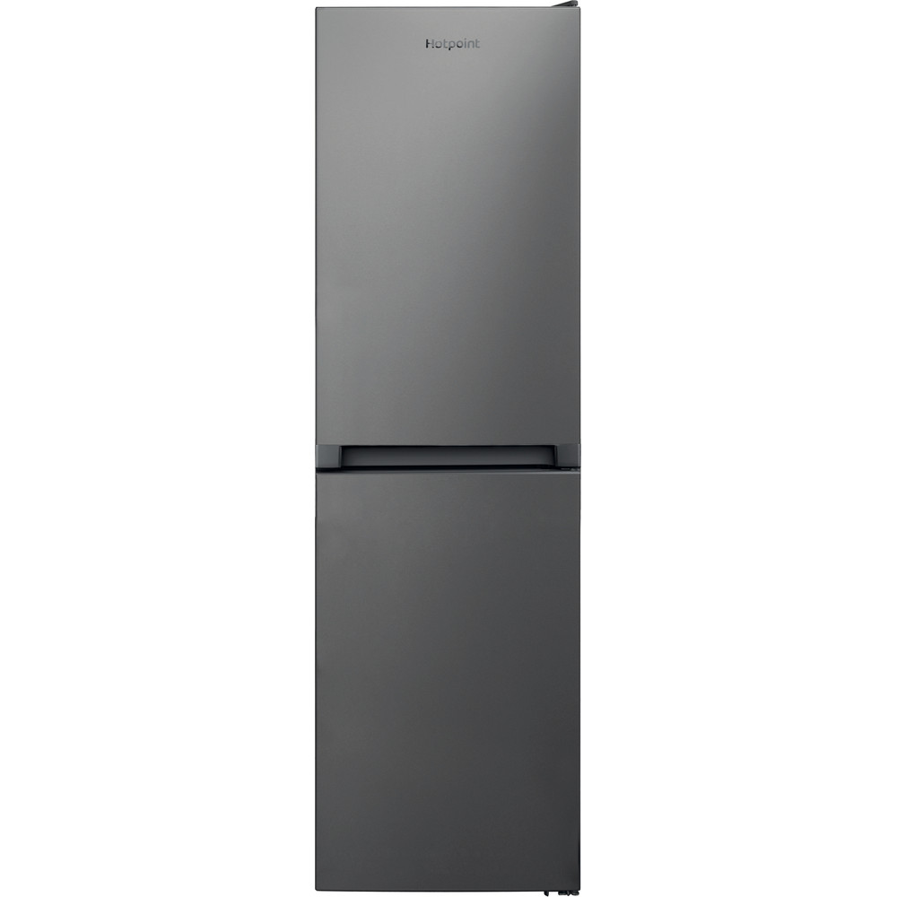Hotpoint Fridge Freezer Free-standing HBNF 55181 S UK 1 Silver 2 doors Frontal