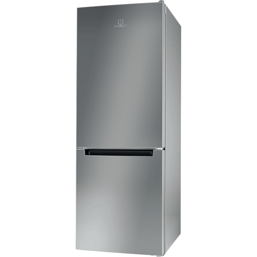 Indesit Kombinētais ledusskapis/saldētava Brīvi stāvošs LI6 S1E S Sudraba 2 doors Perspective
