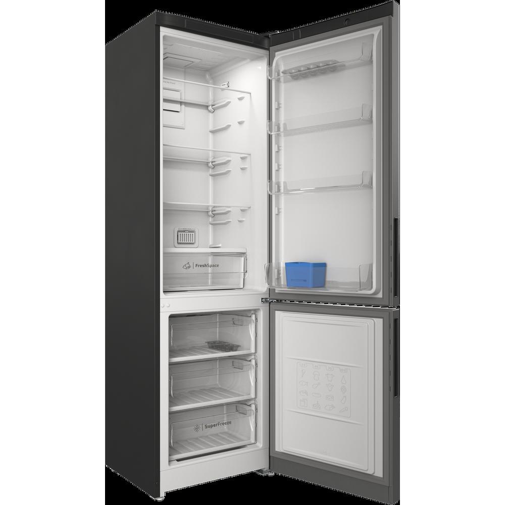 Indesit Холодильник с морозильной камерой Отдельностоящий ITR 5200 X Inox 2 doors Perspective open