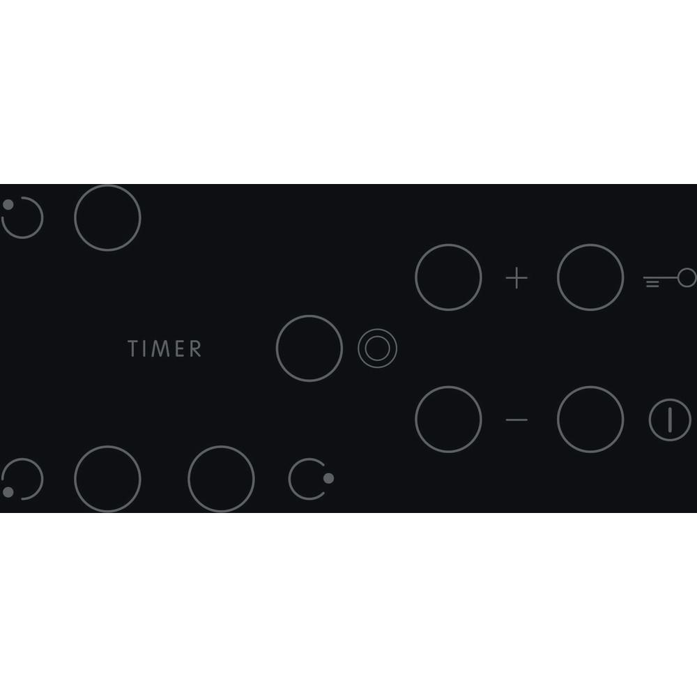 Indesit Печка RI 360 C Черен Radiant vitroceramic Control panel