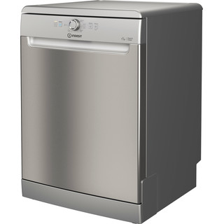 Indesit Dishwasher Free-standing DFE 1B19 X UK Free-standing F Perspective