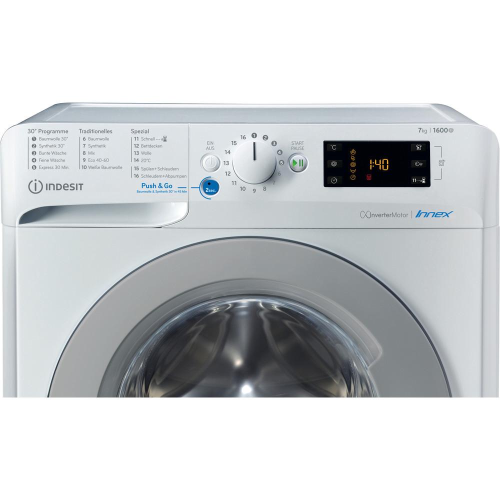 Indesit Waschmaschine Freistehend BWE 71682XE WS DE N Weiß Frontlader E Control panel