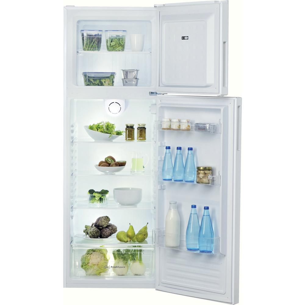Indesit Combinación de frigorífico / congelador Libre instalación TIHA 17 V Blanco 2 doors Frontal open