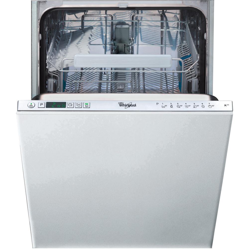Посудомийна машина Whirlpool інтегрована: сріблястий колір, вузька - ADG 422