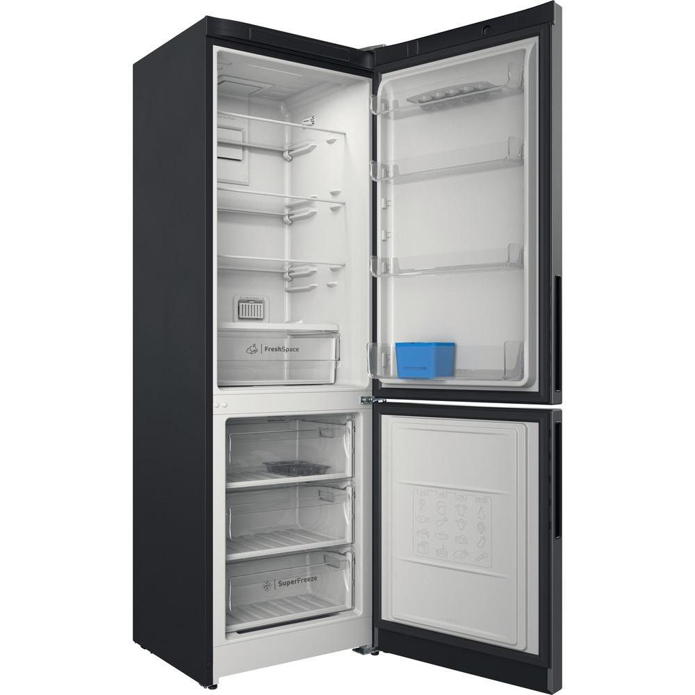 Indesit Холодильник с морозильной камерой Отдельностоящий ITR 5180 X Inox 2 doors Perspective open