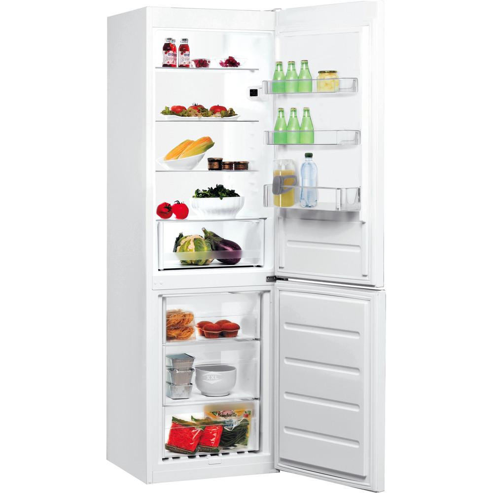 Indesit Réfrigérateur combiné Pose-libre LI7 SN1E W Blanc 2 portes Perspective open