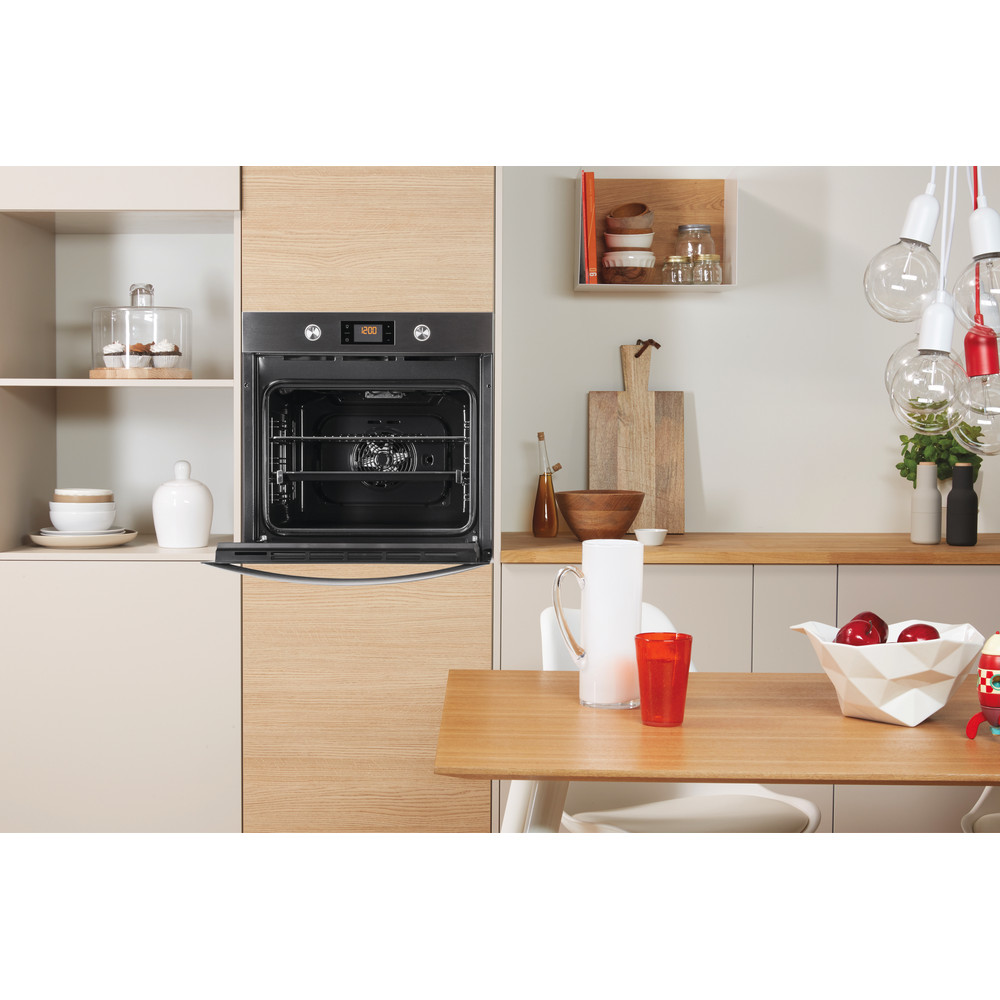 Indesit OVEN Built-in KFW 3841 JH IX UK Electric A+ Lifestyle frontal open