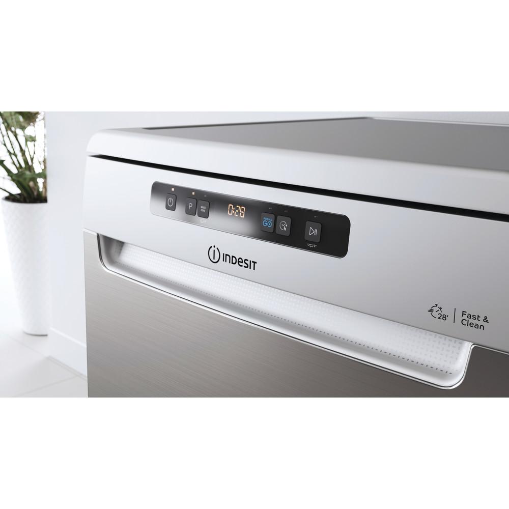 Indesit Umývačka riadu Voľne stojace DFO 3C26 X Voľne stojace E Lifestyle control panel