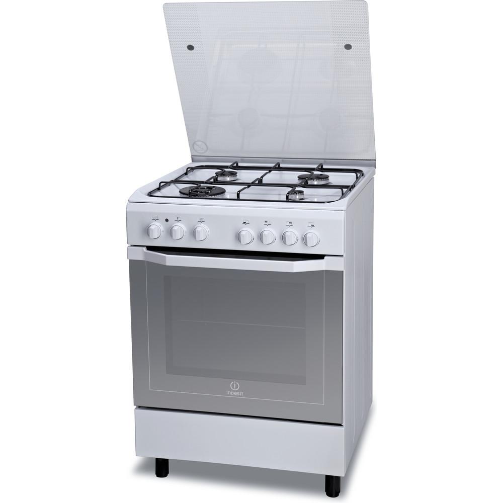 Indesit Cucina con forno a doppia cavità I6TMH2AF(W)/I Bianco GAS Perspective