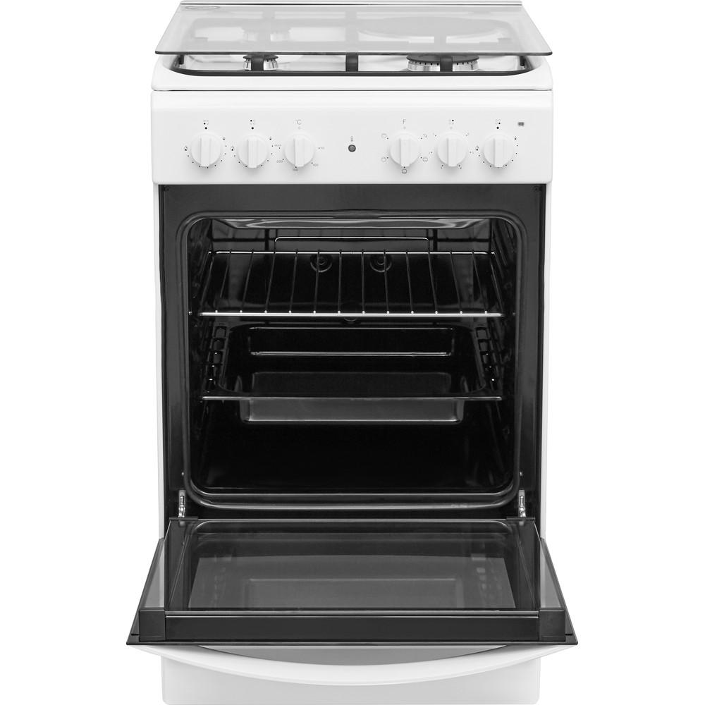 Indesit Готварска печка IS5M4KCW/E Бял Смесени Frontal open