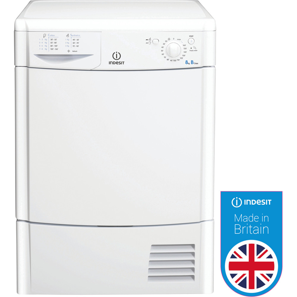 Indesit Dryer IDC 8T3 B (UK) White Award