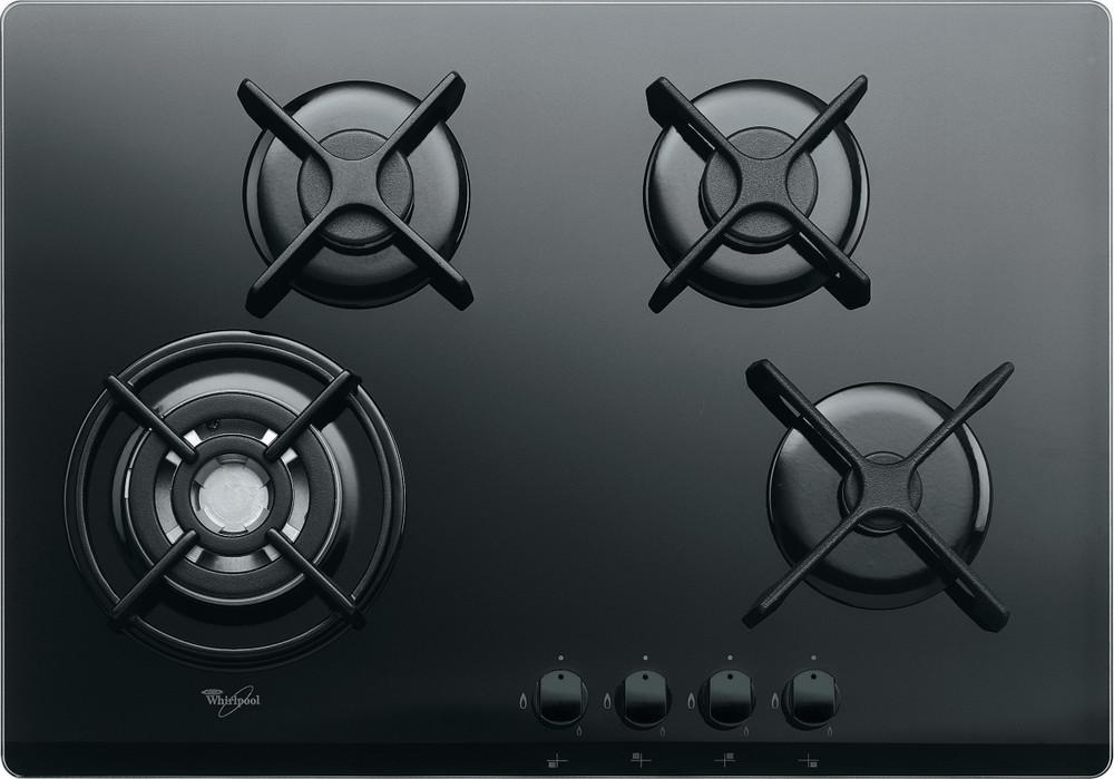 Whirlpool Table de cuisson AKT 5000/NB Noir Gaz Frontal