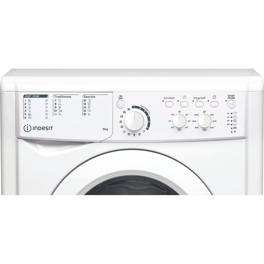 Indesit Lavabiancheria A libera installazione EWSC 51051 W EU N Bianco Carica frontale F Control panel
