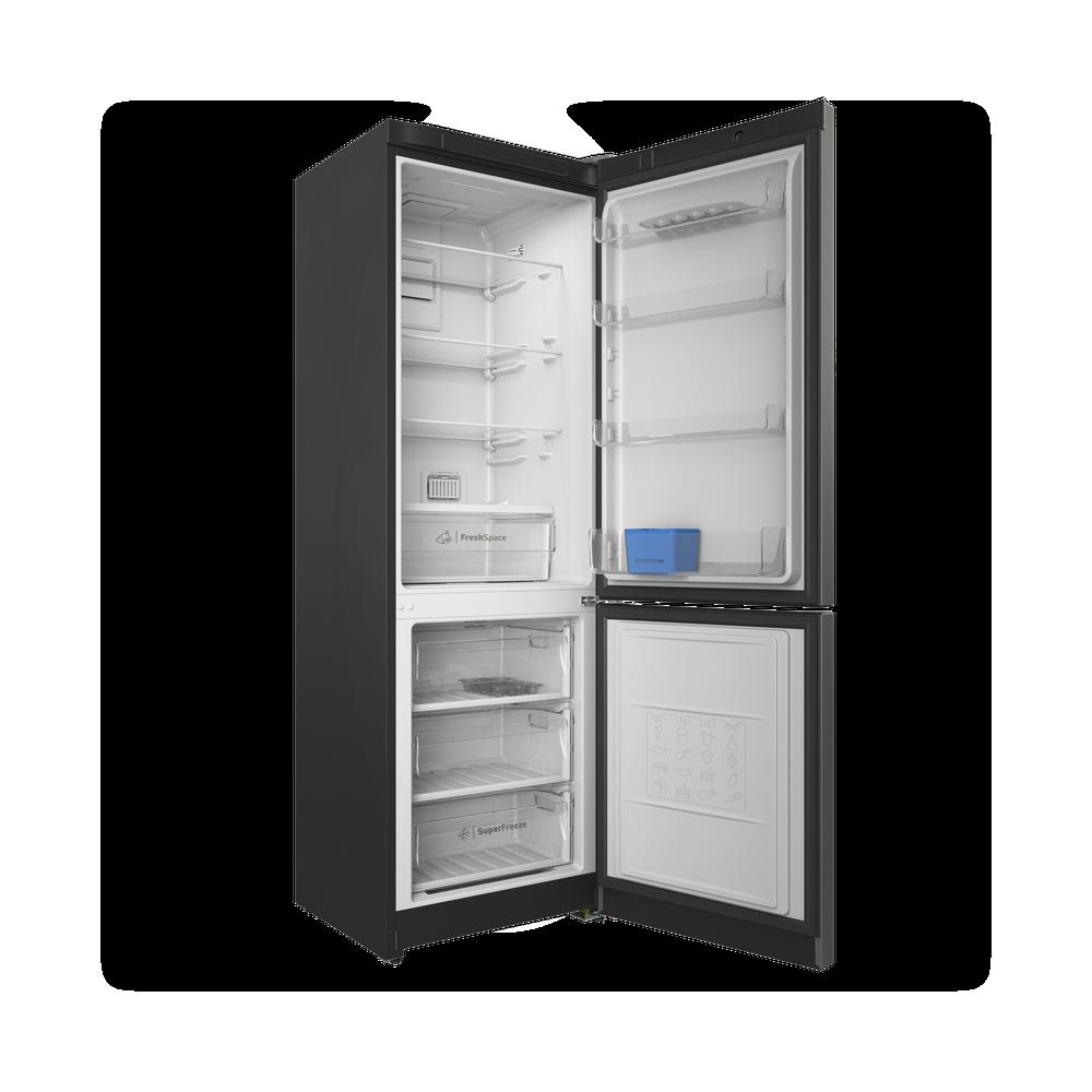 Indesit Холодильник с морозильной камерой Отдельностоящий ITS 5180 X Inox 2 doors Perspective open