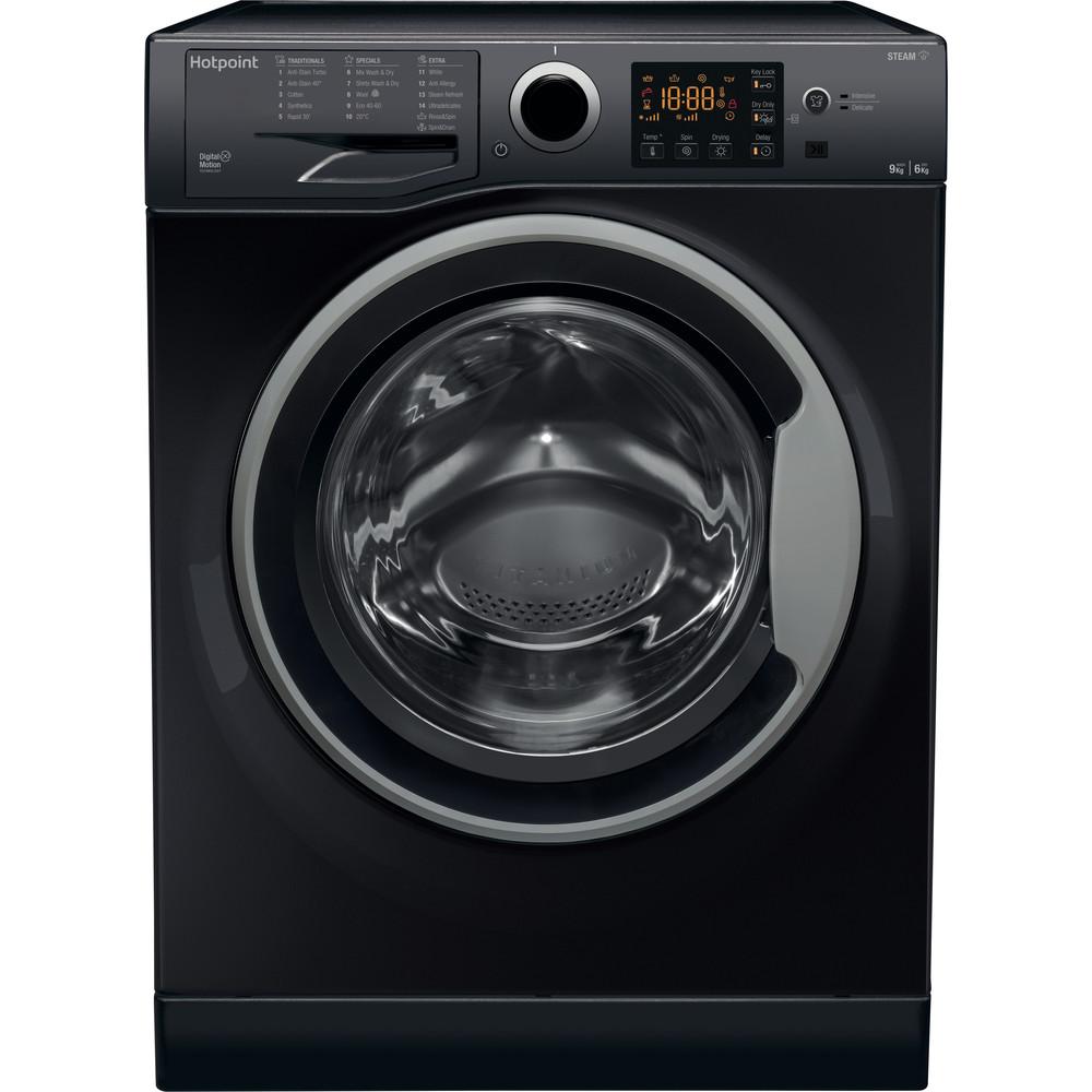 Hotpoint Washer dryer Free-standing RDGR 9662 KS UK N Black Front loader Frontal