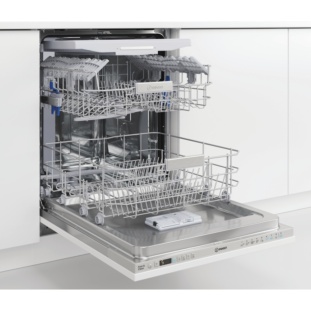 Indesit Посудомоечная машина Встраиваемый DIO 3T131 A FE X Full-integrated A Perspective open
