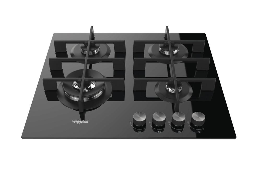 Whirlpool Table de cuisson GOW 6423/NB Noir Gaz Frontal top down