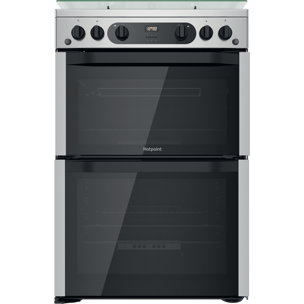 Hotpoint Double Cooker HDM67G0CCX/UK Inox A+ Frontal
