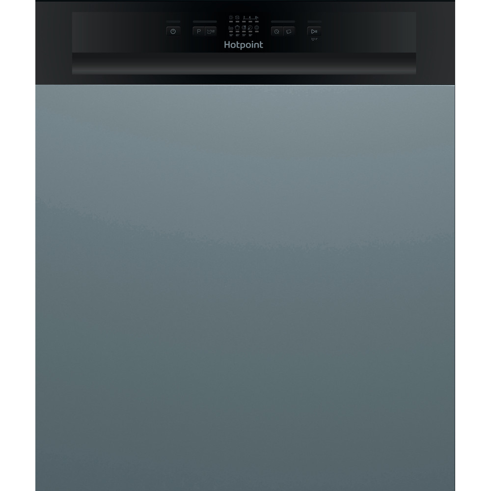 Hotpoint Dishwasher Built-in HBC 2B19 UK Half-integrated A Frontal