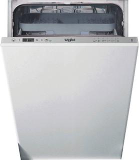 Whirlpool ugradna mašina za pranje sudova: srebrna boja, uska - WSIC 3M27 C