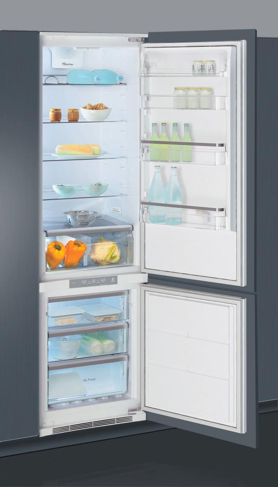 Whirlpool Fridge/freezer combination Vgradni ART 963/A+/NF Bela 2 doors Perspective open