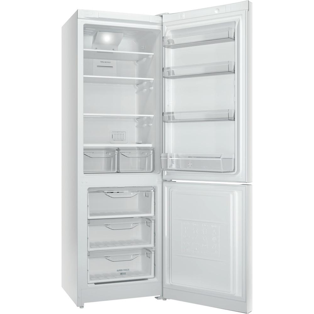Indesit Холодильник с морозильной камерой Отдельностоящий DFN 18 D Белый 2 doors Perspective_Open
