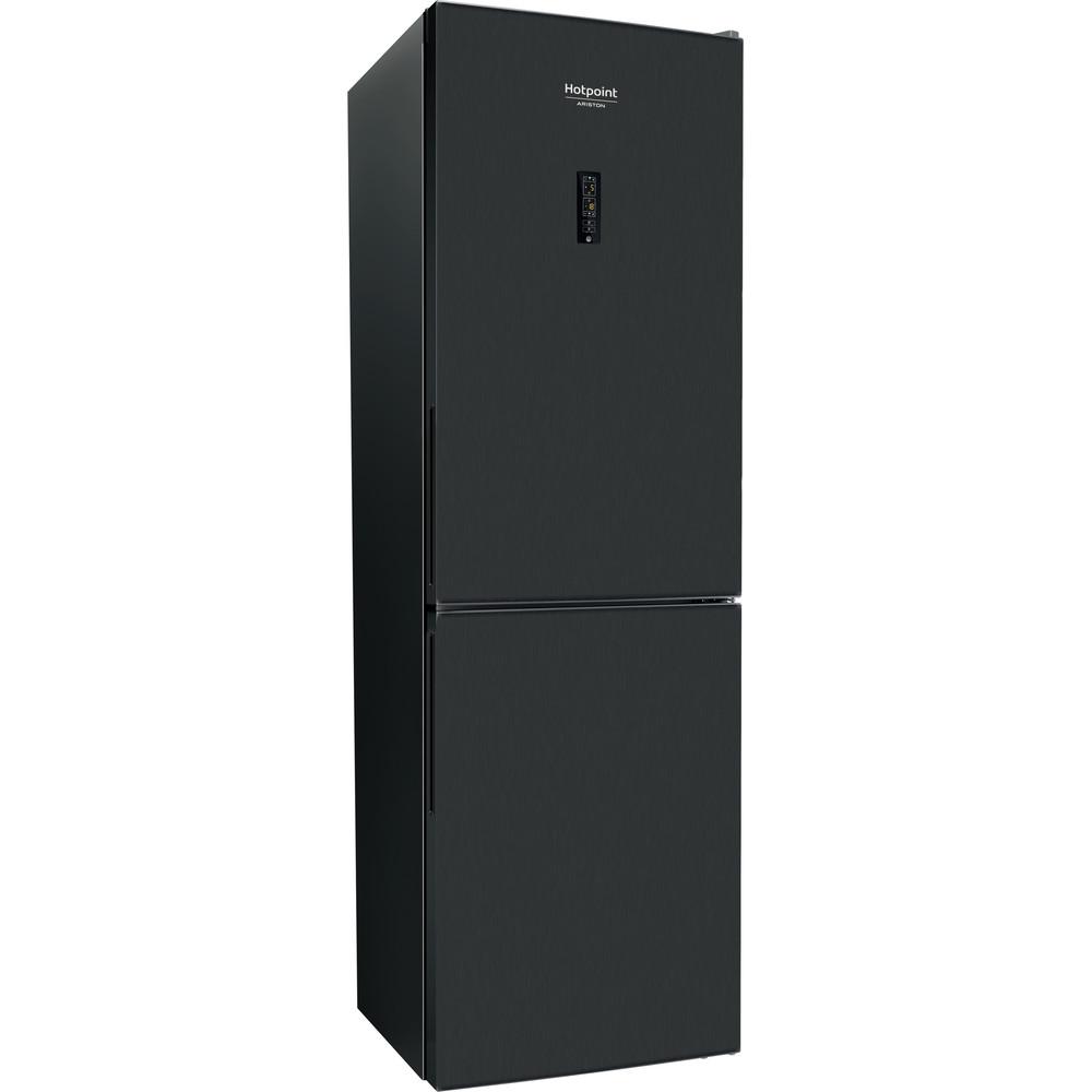 Hotpoint_Ariston Комбинированные холодильники Отдельностоящий HDF 620 BX Черная сталь 2 doors Perspective