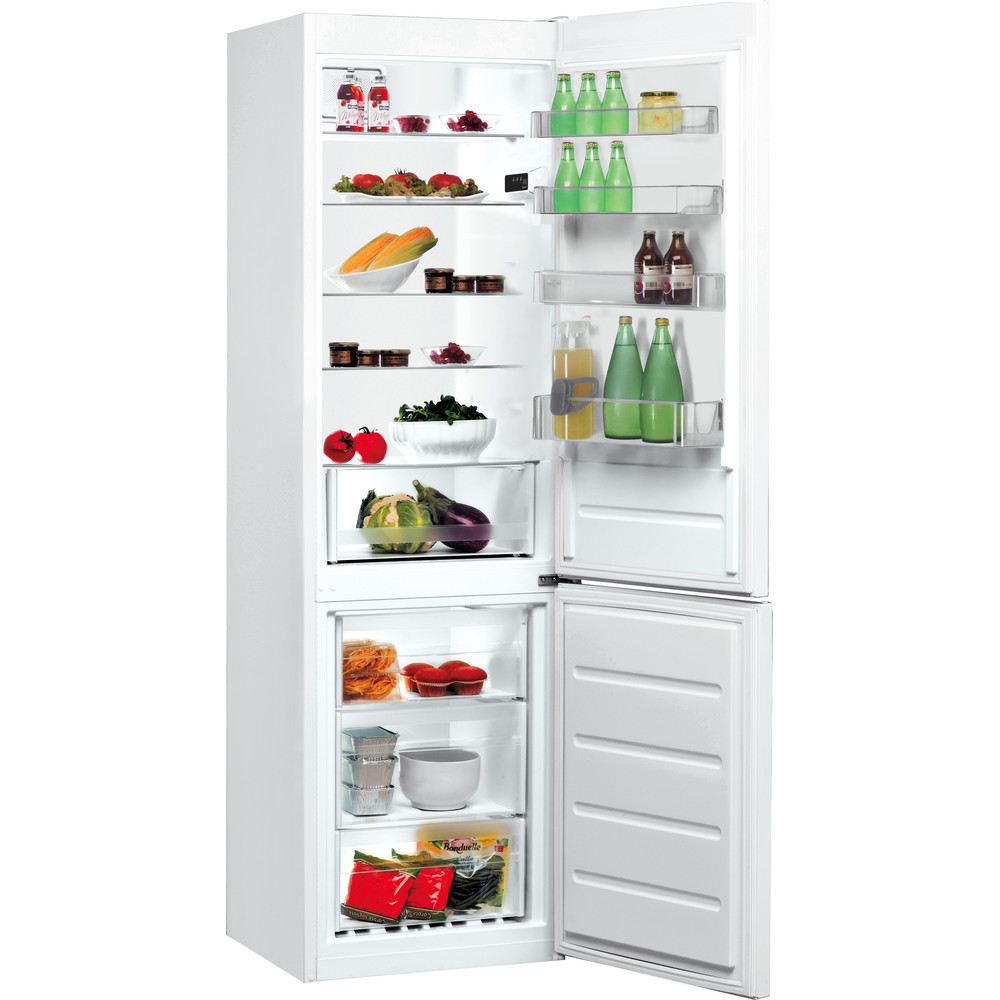 Indesit Kombinerat kylskåp/frys Fristående LR9 S1Q F W White 2 doors Perspective open