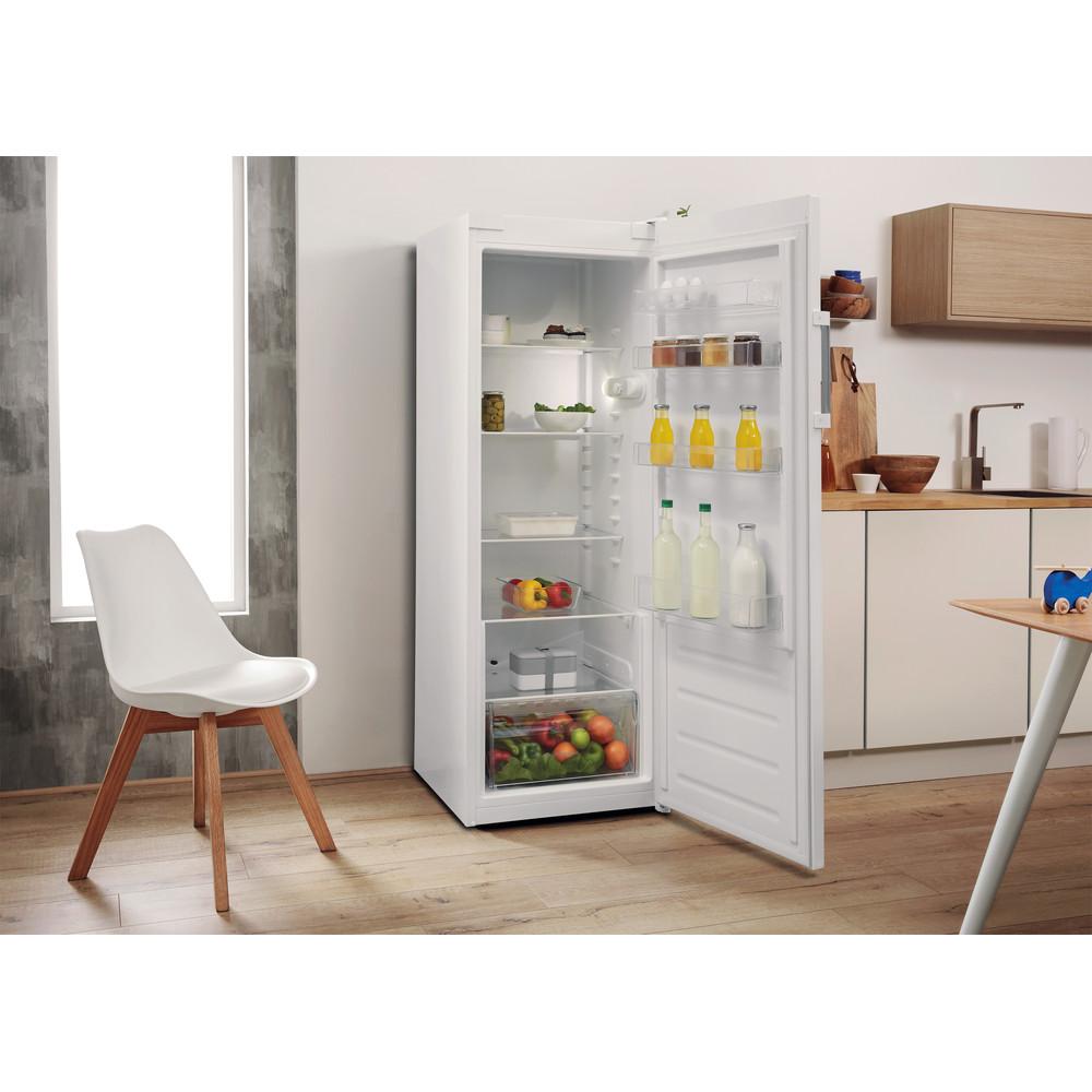 Indesit Réfrigérateur Pose-libre SI6 1 W Blanc Lifestyle perspective open