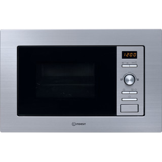 Indesit Microwave Built-in MWI 122.2 X (UK) Inox Electronic 20 MW+Grill function 800 Frontal