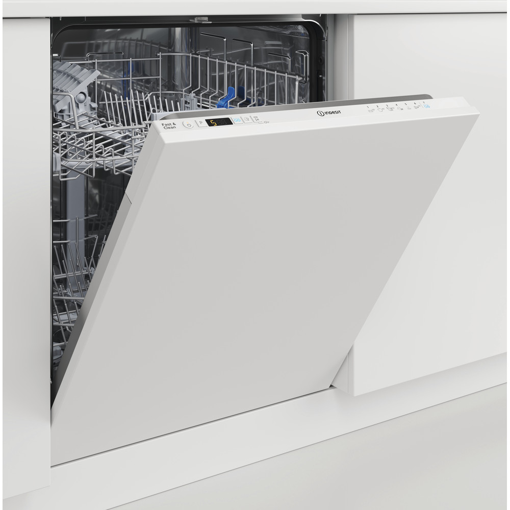 Indesit Dishwasher Built-in DIC 3B+16 UK Full-integrated F Perspective