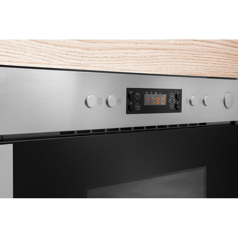 Indesit Mikroaaltouuni Kalusteisiin sijoitettava MWI 6211 IX Inox Sähköinen 22 Vain MW 750 Lifestyle control panel