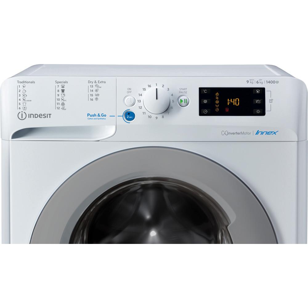 Indesit Pračka se sušičkou Volně stojící BDE 961483X WS EU N Bílá Front loader Control panel