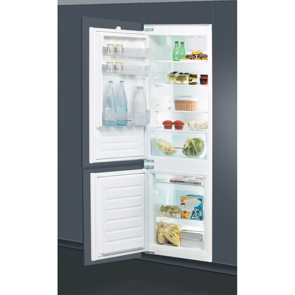 Indesit Combinazione Frigorifero/Congelatore Da incasso B 18 A1 D V E S/I 1 Bianco 2 porte Lifestyle perspective open