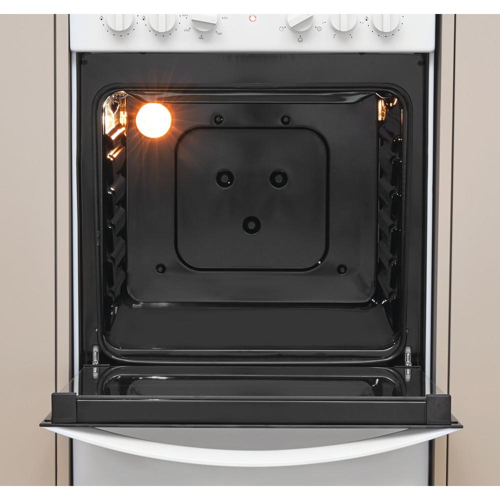 Indesit Готварска печка IS5M4KCW/E Бял Смесени Cavity