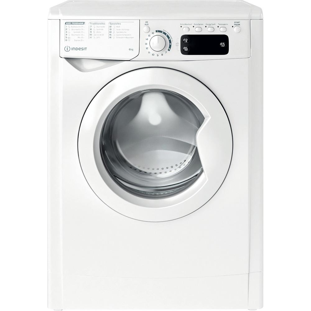 Indesit Waschmaschine Freistehend EWSE 61251 W DE N Weiß Frontlader F Frontal