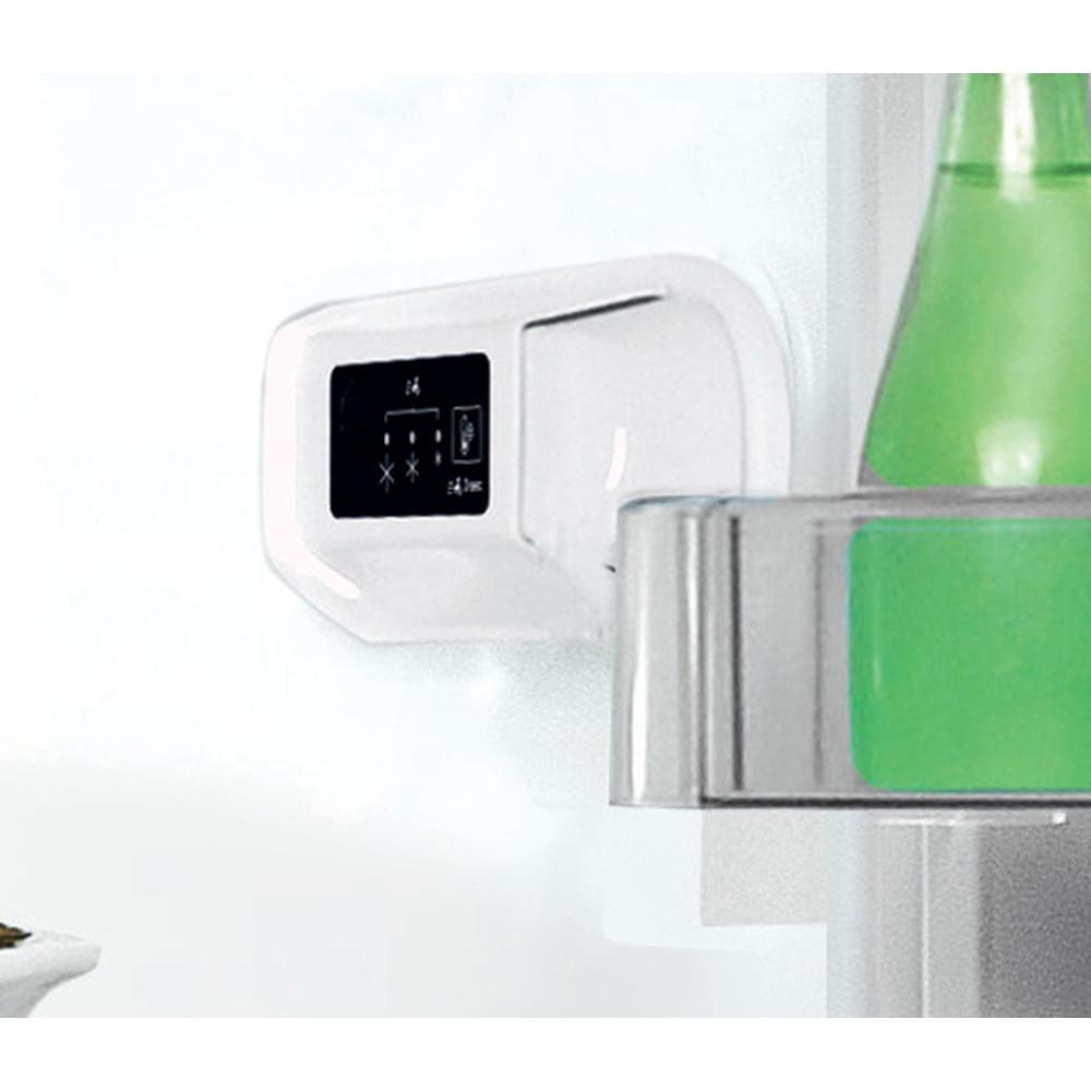 Indesit Hűtő/fagyasztó kombináció Szabadonálló LI8 S2E X Inox 2 doors Control panel
