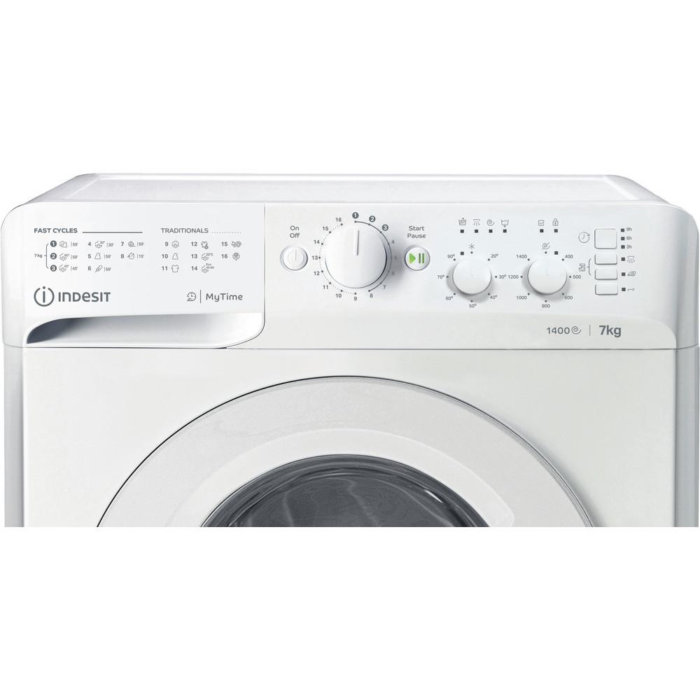 Indesit Wasmachine Vrijstaand MTWC 71452 W EU Wit Voorlader E Control panel