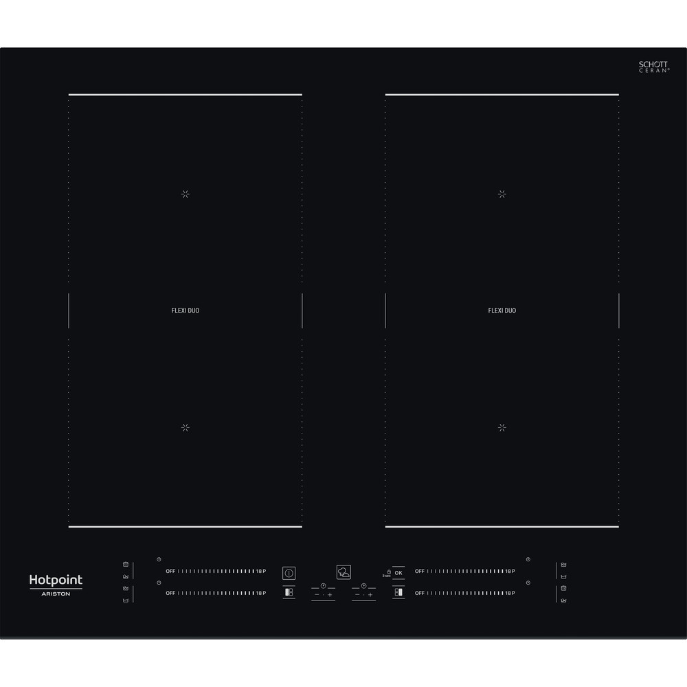 Hotpoint_Ariston Варочная поверхность HS 2560C BF Черный Induction vitroceramic Frontal