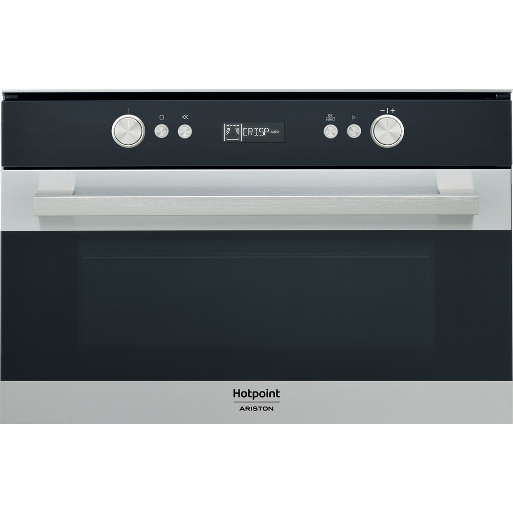 Hotpoint_Ariston Micro-ondas Encastre MD 764 IX HA Inox Eletrónico 31 MO + Função Grill 1000 Frontal