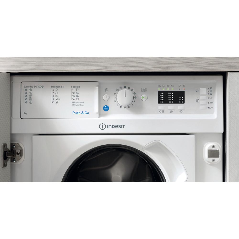 Indesit Стиральная машина Встраиваемый BI WMIL 71252 EU Белый Фронтальная загрузка A Control panel