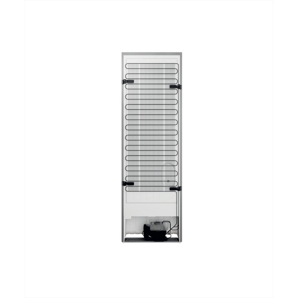 Indesit Køleskab/fryser kombination Fritstående INFC8 TI21X Rustfrit stål 2 doors Back / Lateral