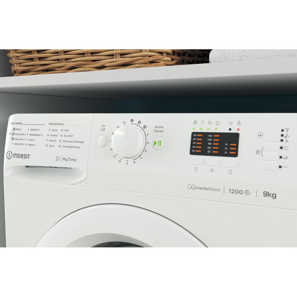 Indesit Lavabiancheria A libera installazione MTWA 91283 W IT Bianco Carica frontale D Lifestyle control panel
